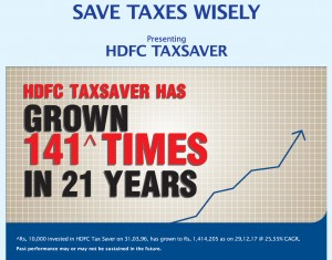 hdfc tax saver